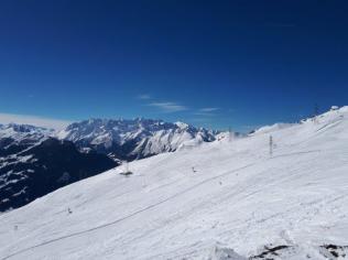 Vue sur le massif du Mt Blanc